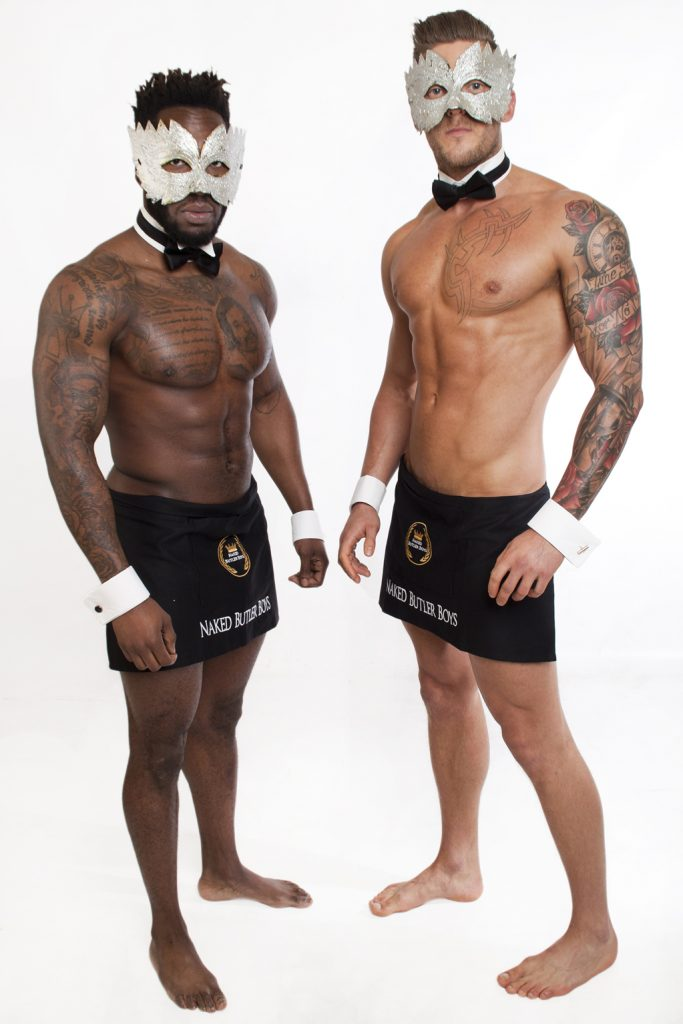 Naked Butler and Male Stripper